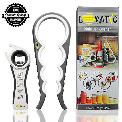 MONTAUR Can and Jar Opener - Ergonomic Bottle Opener for Seniors, Elders and Arthritis Sufferers - Quick Opening for Cooking - Simple To Use - Easily Apply for Variety of Kitchen Cans and Bottles