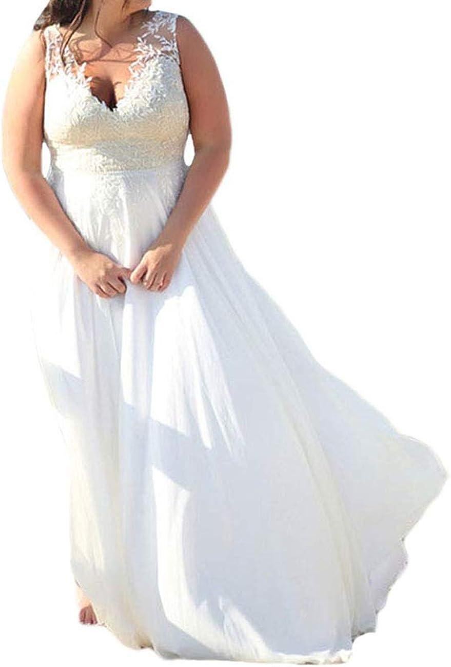 Wedding Dress Lace Beach Bridal Gown Chiffon Bride Dresses Long