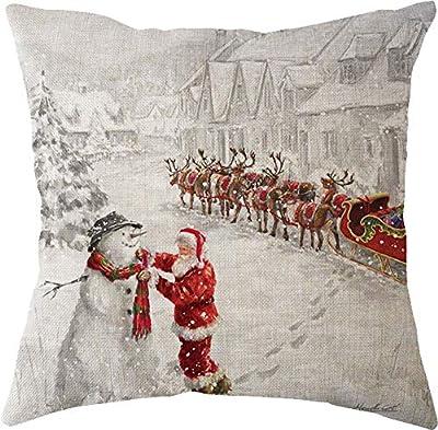 "Lyn? Cotton Linen Square Throw Pillow Case Decorative Cushion Cover Pillowcase for Sofa 18 ""X 18 "" Lyn-13"