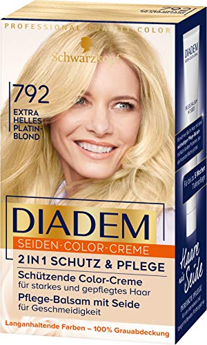 Diadem Seiden-Color-Creme 792 Extra Helles Platinblond Stufe 3, 3er Pack(3 x 170 ml)