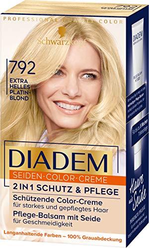 Diadem Seiden-Color-Creme 792 Extra Helles Platinblond Stufe 3, 3er Pack(3 x 170 ml)
