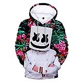 cshsb Sudadera con Capucha con Estampado 3D Unisex DJ Jumper Carnival Costume Hoodie para Hombre Mujer,A,S-M