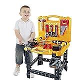 Toy Choi's 83 Stück Werkzeug Kind, Kinder Werkzeugkoffer Werkzeuge Junge Spielzeugbank Baukasten...