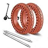 ANSENI Ruedas Macizas Roja para Patinete Electrico Rueda de 8.5 Pulgadas, Neumáticos de Reemplazo, Rueda de Repuesto Antipinchazo Compatible con Xiaomi Scooter Electrico M365/Pro/1S Patinete Cecotec