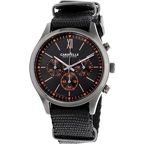 Caravelle New York Herren Chronograph Quarz Uhr mit Nylon Armband 45A130