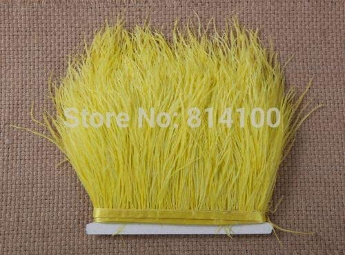Xucus Attention brand 2yards lot Yellow Color Fringe Feather Trim Directly managed store Plumes Ostrich