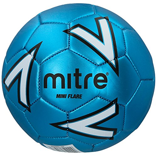 Mitre Kids' Flare Recreational Mini Football, Blue/White, One Size