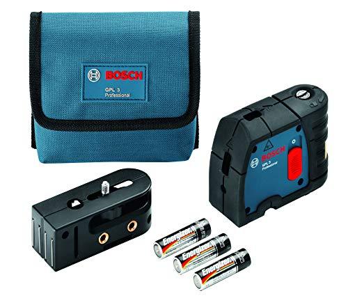 Bosch Professional 3-Punkt-Laser GPL 3 (roter Laser, Arbeitsbereich: 30 m, Schutztasche)