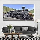 Henypt Leinwanddruck Herbst modulare Eisenbahn Zug Poster