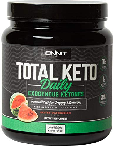 ONNIT Total Keto - Exogenous Ketones Supplement for Low Carb Diet - 300g Ketone per Tub