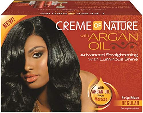 Creme Of Nature With Argan Oil No Lye Relaxer [Regular] (Pack of 3)