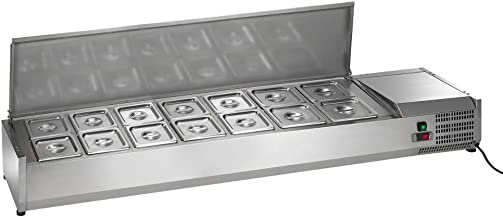 Arctic Air ACP63 Refrigerated Counter-Top Prep Unit, Includes (14) 1/6 Stainless Pans & Covers, 63