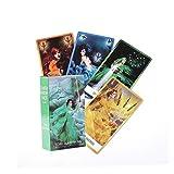 GYNFJK The Chakra Wisdom Tarot Guidebook Cards Deck Juegos de Libros de adivinación Oculta para Principiantes Caja Major y Minor Tarot Card