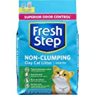 Fresh Step Scented Non-Clumping Clay Cat Litter, Premium, Odor Control 14 lbs Pack of 2