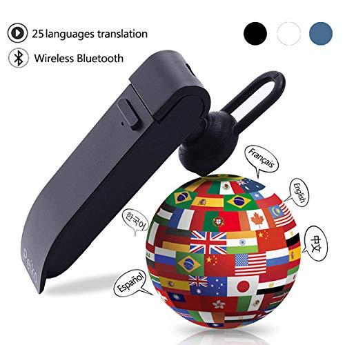 Redcolourful 25 Languages Translation Headphones Smart Voice Translator Instant Translate Wireless Bluetooth Translator Earphone Blue