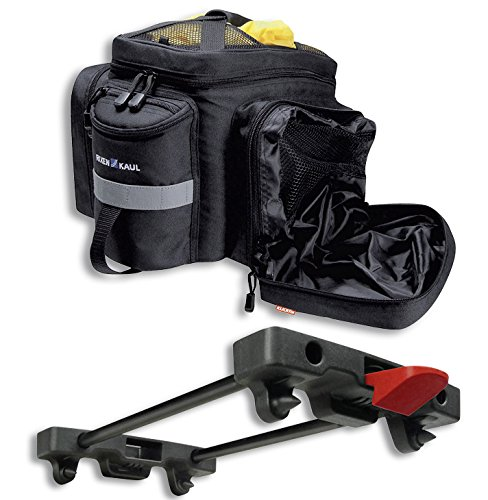 KLICKfix Farradtasche Rackpack 2 Plus für Rackt Gepäckträgertasche, Schwarz, 35 x 30 x 23 cm
