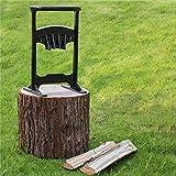 Wood Kindling Splitter Hand Grinding Blade (45# Steel, 14lb) Safe & Easy Way to Split Logs/Chop Firewood for Wood Stove, Fireplace