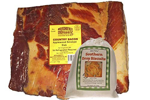 Julia's Southern Foods Old-Fashioned Country Cured and Smoked Applewood Slab Bacon 4 to 5 Lbs