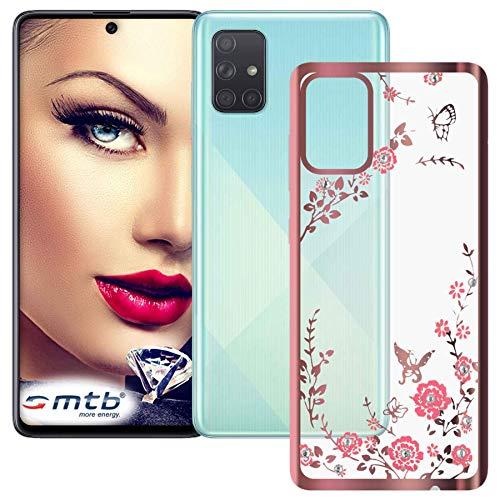 mtb more energy® Funda TPU Bloomy para Samsung Galaxy A51 (SM-A515, 6.5'')...