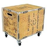 Rollbox aus Holz - 40,5cmx45cmx33cm - Beige - Sitzgelegenheit