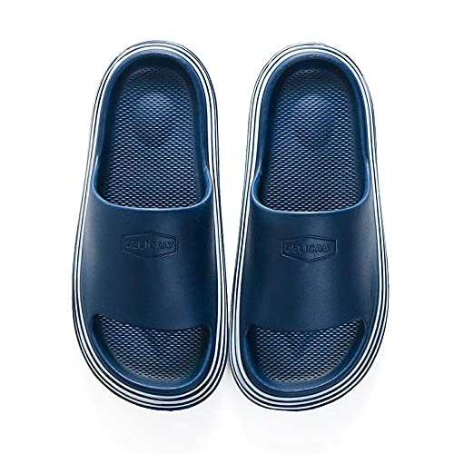 LLGG Suave Bañarse Chanclas,Sandalias Antideslizantes Inferiores Blandas, desodorantes, sin Usar Zapatillas ultraligeras-Azul Profundo_44-45,Zapatillas Home Respirables