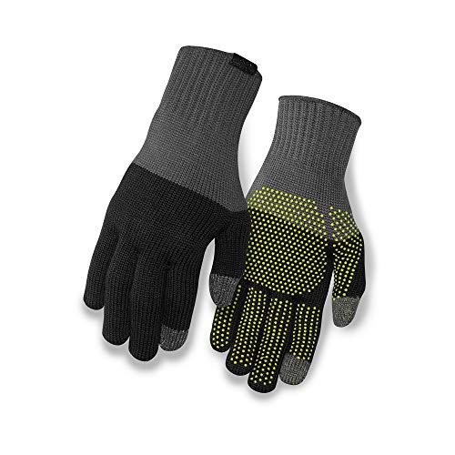 Giro Unisex– Erwachsene Wi Merino Knit Wool Fahrradhandschuhe, Grey/Black, L/XL