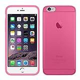 TBOC® Funda de Gel TPU Rosa para Apple iPhone 6 Plus / 6S Plus (5.5 Pulgadas) de Silicona Ultrafina y Flexible