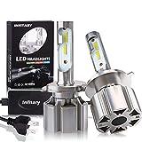 DOOK H3 LED Bombillas de Faros Extremadamente Brillantes 10000LM, COB Chips Mini diseño Todo en uno Kit de conversión de Faros 6500k Xenon Blanco