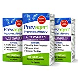 Prevagen Improves Memory - Regular Strength 10mg, 30 Chewables |Mixed Berry-3 Pack| with Apoaequorin & Vitamin D | Brain Supplement for Better Brain Health, Supports Healthy Brain Function