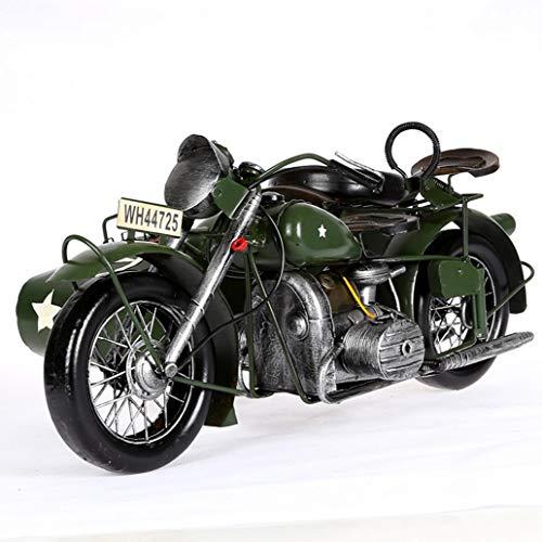 Retro motorfietsmodellen met drie wielen, handwerkkunst, Tinplate Car Photography Props, Simple Home Perfect Adornment, het beste cadeau voor jongens