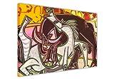Leinwandbild, Motiv: Pablo Picasso, Pferde und spanischer