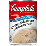 Campbell's Condensed Cream of Mushroom with Roasted Garlic Soup, 10.5 oz. Can (Pack of 12), Multi