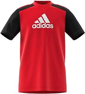 adidas B Bos Tee Children's T-Shirt, Boys, T-Shirt, GJ6644, Rojint/Black/White, 9 Años