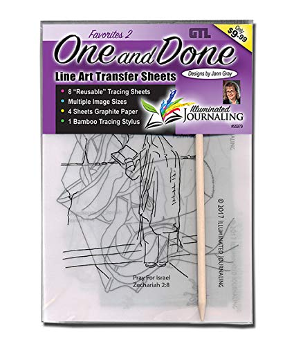 One and Done Line Art Transfer Sheets: Favorites 2