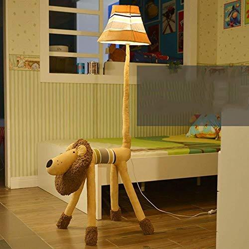 ZUQIEE Lámparas de pie De pie luminarias de dibujos animados niño precioso de tela lámparas creativas Dormitorio Lámparas de pie, de pie luminarias de estudio for sala de estar vertical lámparas de pi