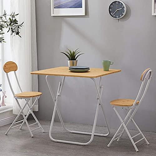 Accesorios diarios Metal comedor conjunto de muebles de jardín al aire libre estilo simple plegable balcón mesa y sillas conjunto