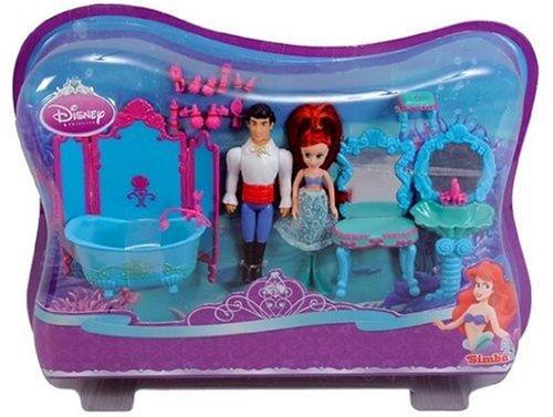 Simba - 105067451 - Disney Princess, Mini Arielles Bain, Poupée 10 cm