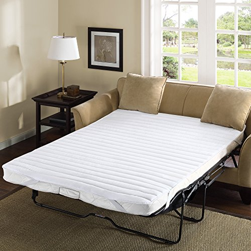 Madison Park Essentials Frisco Fine Microfiber Sofa Bed Cover Waterproof Mattress Protector Topper, 60x72, White