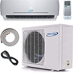 ENJOY A COMFY HOME no matter the outside temperature. Heat, cool and dehumidify up to 1,500 sf with our ductless mini split when outside temperatures are as low as -4F. SAVE YOUR MONEY. A whisper quiet ductless air conditioner uses very little electr...