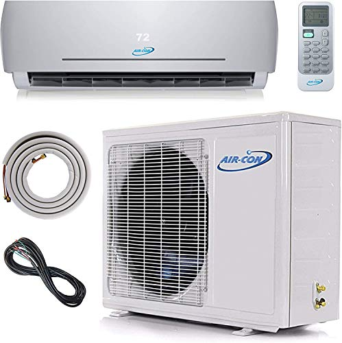 24000 BTU Ductless Air Conditioner – Mini Split AC/Heating System - 2 Ton Pre-Charged...