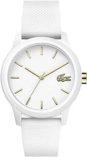 TR90 Quartz Watch with Rubber Strap, White, 18 (Model:...