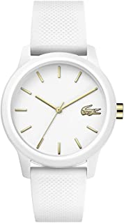 Lacoste TR90 Quartz Watch with Rubber Strap, White, 18 (Model: 2001063)