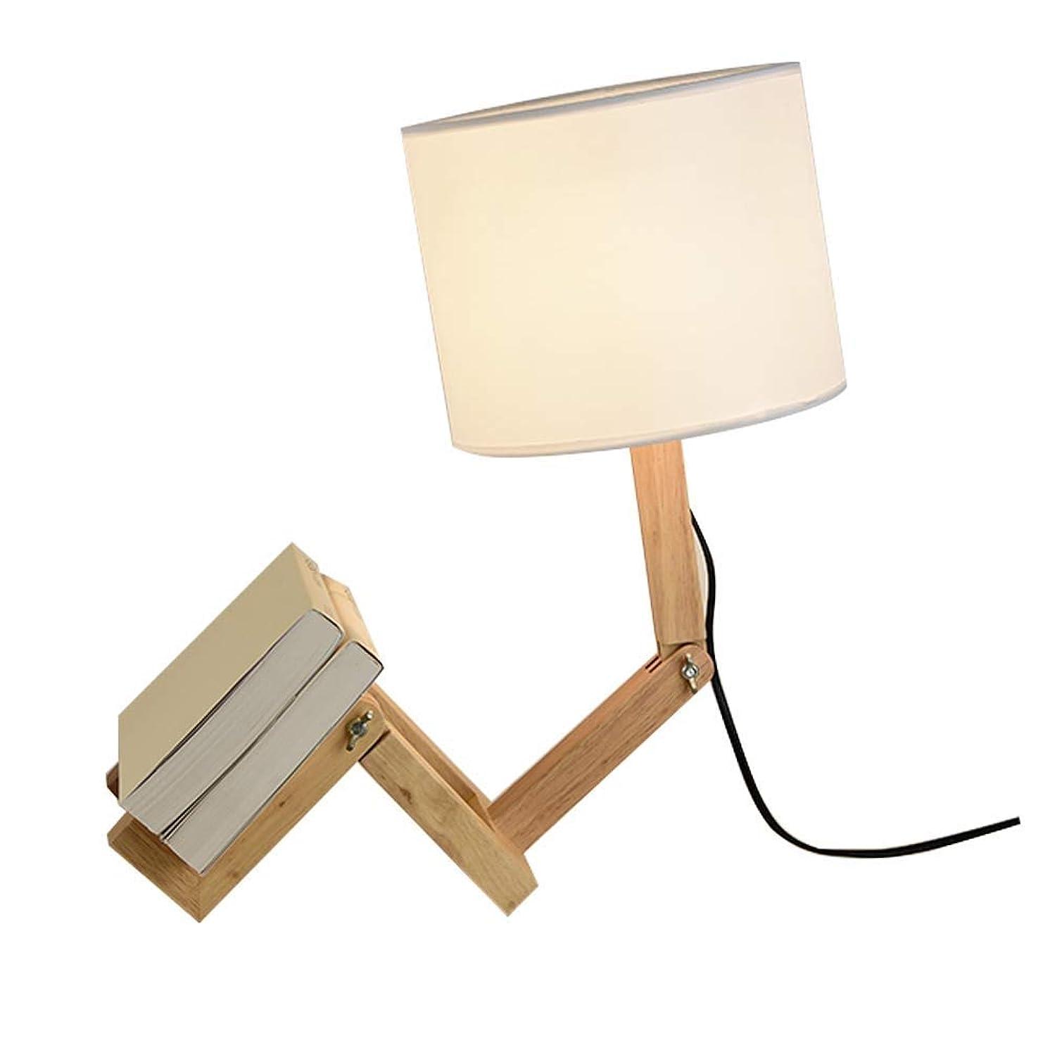 レディカストディアンばかZXvbyuff アームデスクランプスイング - 現代のクリエイティブテーブルランプナチュラルウッドベッドサイドナイトランプはベッドルームのために、研究、オフィス、仕事、キッズルーム、理想のギフト