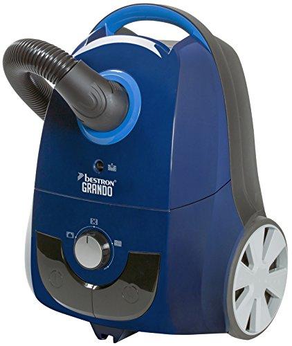 Bestron Aspiradora Moderna con Bolsa de 1,5 L, Alcance: 9,5 m, 650 Vatios, Azul
