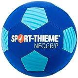 Sport-Thieme Neopren Beachsoccer-Ball | Indoor u. Outdoor | Wasserabweisender Strand-Fußball u. Funball | Max. Griffigkeit u. Ballkontrolle | Blau | ø 22 cm | 300 g | Nadelventil,...