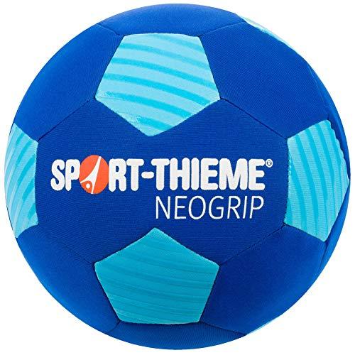 Sport-Thieme Neopren Beachsoccer-Ball | Indoor u. Outdoor | Wasserabweisender Strand-Fußball u. Funball | Max. Griffigkeit u. Ballkontrolle | Blau | Ø 22 cm | 300 g | Nadelventil, Ballblase