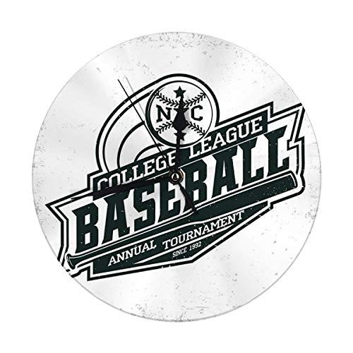 Oh Sweety Moderne Wanduhr große 9.8'Zoll Vintage Grange Stempel Baseball Emblem Sport Logo kreative Vintage Wanduhr