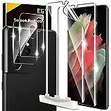 EGV Compatibile con Samsung Galaxy S21 Ultra Pellicola Protettiva,2 Pack Pellicola Protettiva e 2 Pack Pellicola Fotocamera