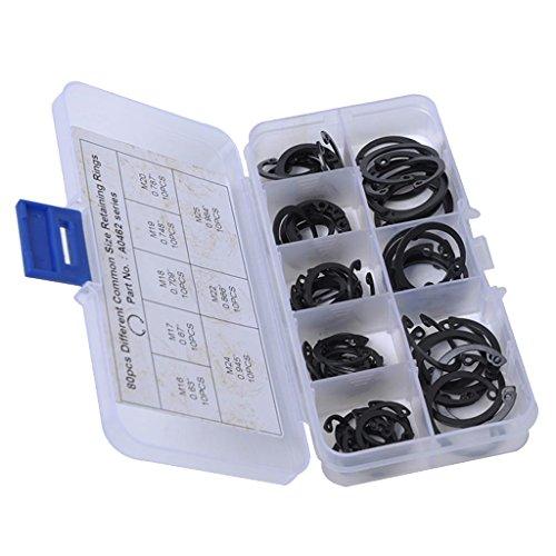 non-brand Anillo de Retención Snap Ring para Coches Auto Vehículo - Estilo 4 (80 pcs Circlip)