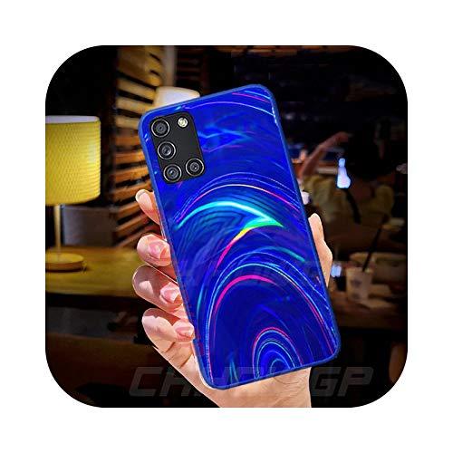 Carcasa para Samsung Galaxy A21S A51 A71 A01 A11 A31 A41 A50 A70 A30 A20 A10 S20 FE Note 20 Ultra Glitter Cover Azul S10